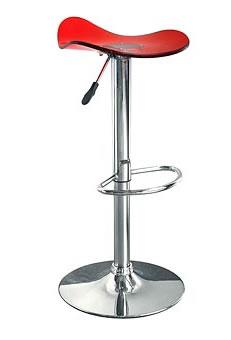 premise red acrylic bar stool