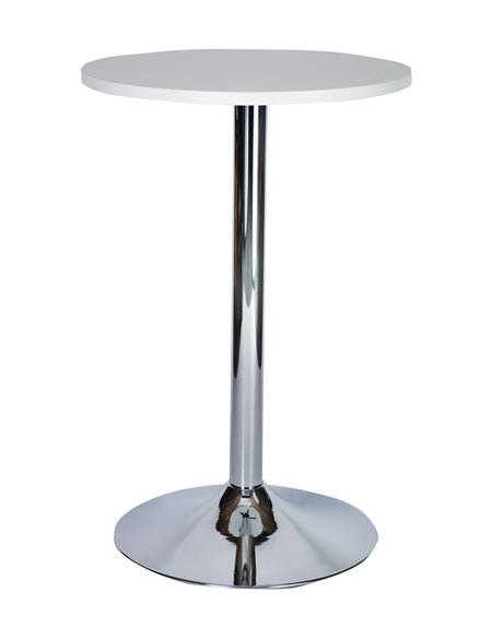 ramizon tall chrome poseur table in various size tops and colours