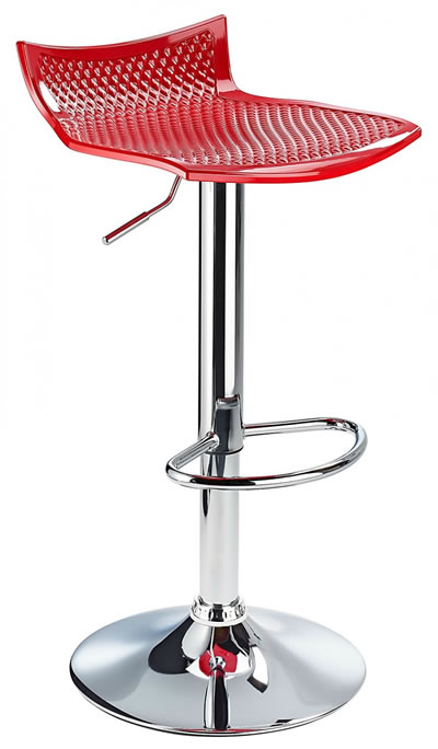 Blezing Red Modern Kitchen Bar Stool Height Adjustable