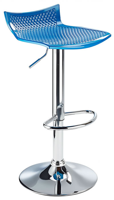 Blezing Blue Modern Kitchen Bar Stool Height Adjustable