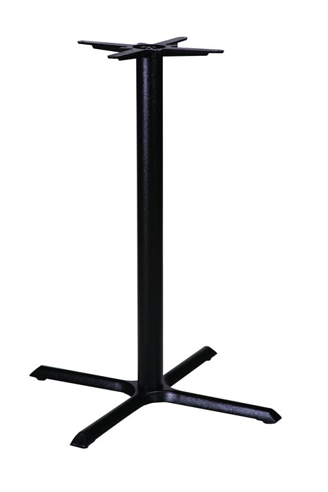 Elson cruciform cast iron black table base made to measure size dining, poseur height