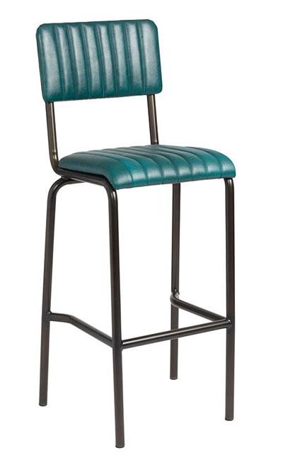 Razik Padded Industrial style bar stool