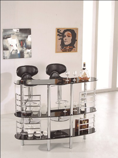 Reah Bar Table and Shelves with 2 Stools