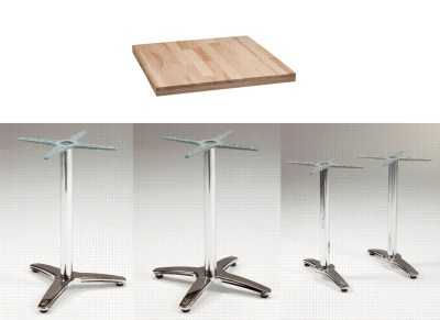 Maymone Chrome Bases Various Option with Chunky Butchers Block