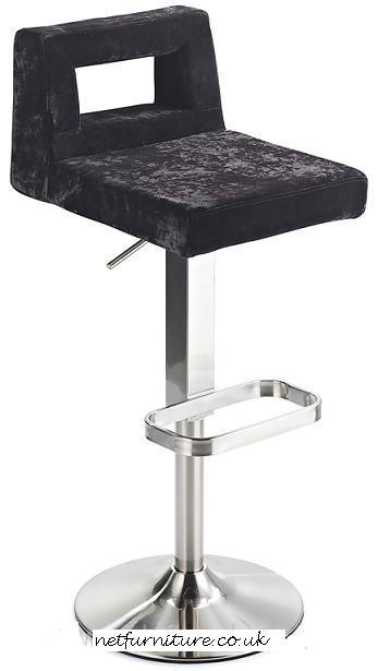 Reamo Bar Stool - Brushed Steel