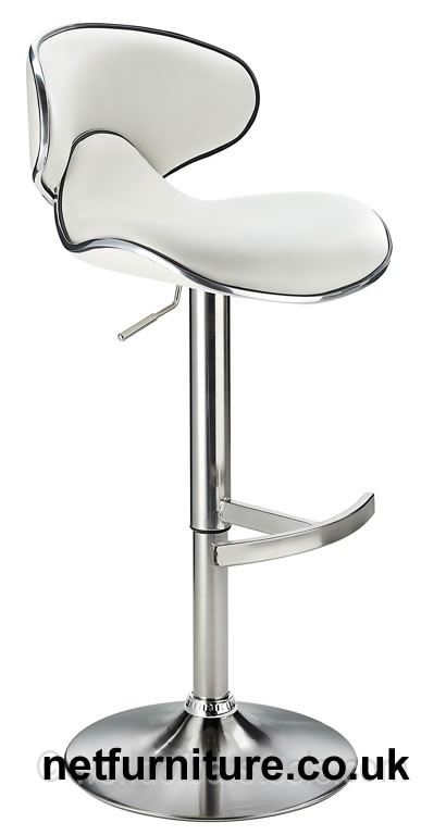 Sakone brushed steel brushed kitchen breakfast bar stool