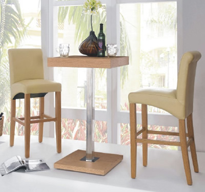 Gresily 2 seater square bar table only & stoolsonline: bar tables kitchen tables adjustable tables Bar ...