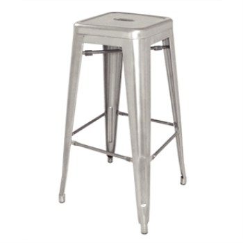 Nelia Steel Stool - Silver Grey