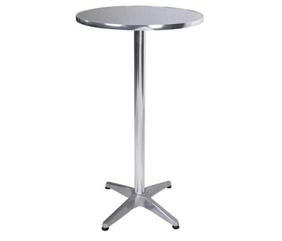 Bobbi aluminuim tall high bistro kitchen bar dining table