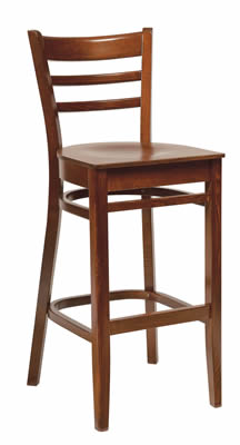 Linker slatted back dark high stool