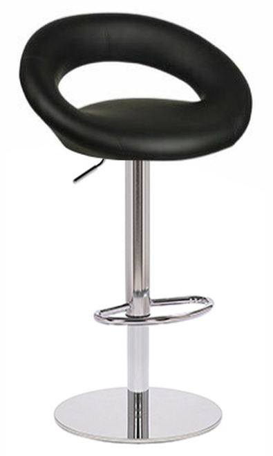 Soren Deluxe Kitchen Breakfast Bar Stool Padded Seat Weighted Base Various Colours Chrome Frame