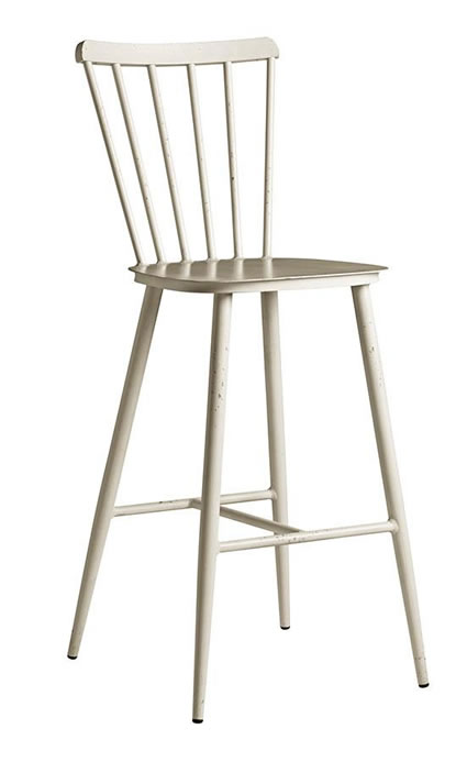 Spindle style retro aluminium kitchen bar stool