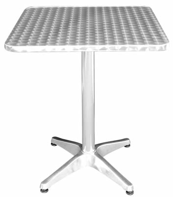 Harine stainless steel square bistro table indoor/outdoor use