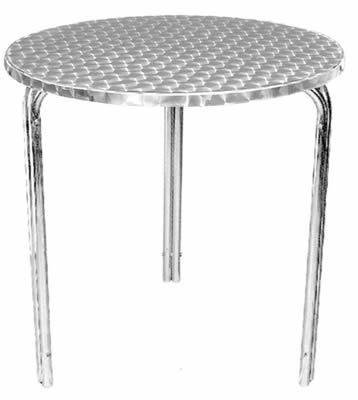 Tresick stainless steel stacking round bistro table