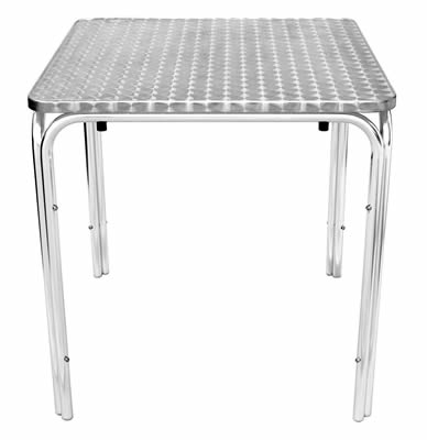 Tresnik stainless steel square stacking table