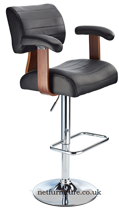 Thames Adjustable Bar Stool with padded seats and swivel 360 degrees