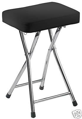 Folding bar stool padded black