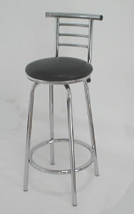 lancaster swivel padded chrome kitchen stool