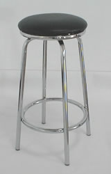 milan kitchen bar stool black padded swivel stool chrome frame