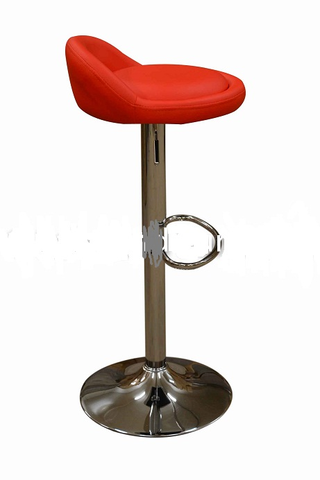 Timeless Low Back Red Faux Leather Kitchen Bar Stool
