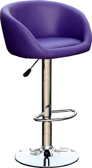 Tuscany Purple Kitchen Breakfast Bar Stool Padded Seat Height Adjustable