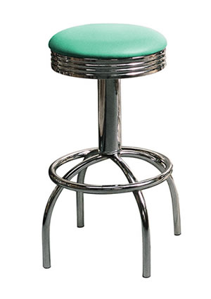 Tisoney retro fifties kitchen breakfast bar stool swivel seat various colour options Fully Assembled