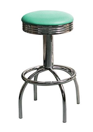 Tisoney retro fifties kitchen breakfast bar stool swivel seat various colour options Fully Assembled