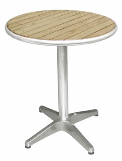 Round ash top bistro table