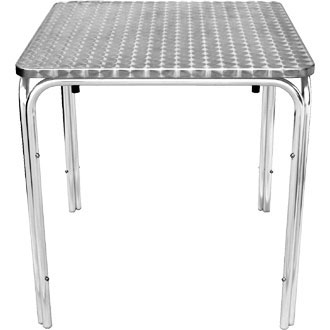 boley square outdoor stackable table - aluminium