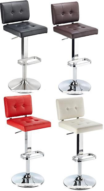 Cosmopolitan Kitchen Breakfast Bar Stool Padded Seat and Back Height Adjustable