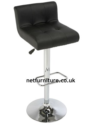 Valle Padded Stool Chrome and Faux Leather