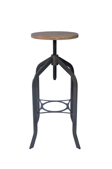 Bolzing Kitchen Bar Stool Retro Vintage Rustic Industrial Stool No Back