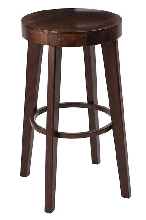 Kagone walnut kitchen breakfast bar stool fully assembled solid wood hand crafted with no back