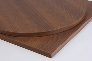 Taybon Laminate Walnut Top - Large, small, round or square