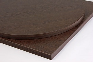 Taybon Laminate Wenge Top - Large, small, round or square