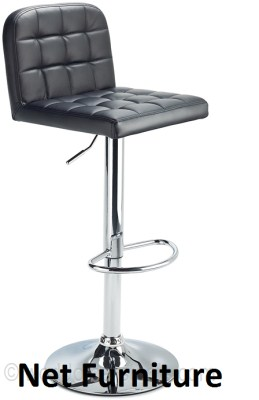 Wink Chrome Adjustable Bar Stool - Padded