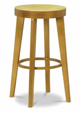 Rasoni Wooden kitchen bar stool