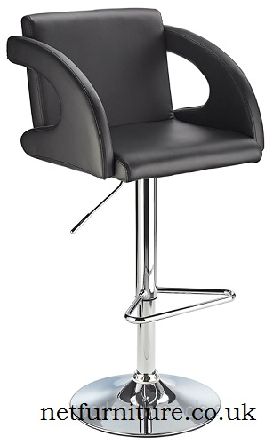 Onore Adjustable Bar Stool with Curved Arms