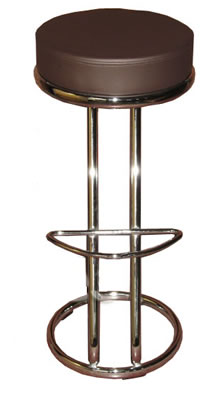 2 cushioned 'z' shaped brown breakfast kitchen bar stools