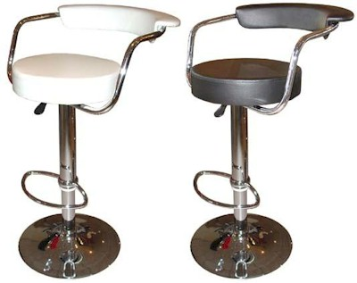 Lazio Bar Stool Swivel Height Adjustable, Black, Brown or White