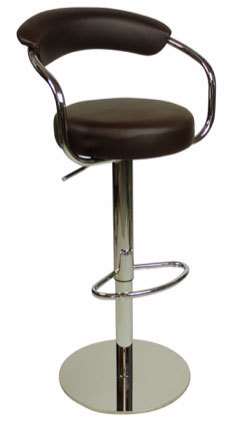 Zenpin Deluxe Kitchen Breakfast Bar Stool Weighted Base Height Adjustable Padded Seat And Back