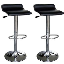 Zest Faux Leather Black Bar Stool