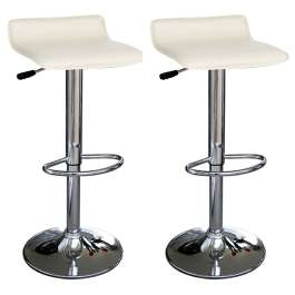 Zest Faux Leather Cream Kitchen Swivel Adjustable Bar Stool