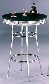mayton retro chrome tall poseur bar table