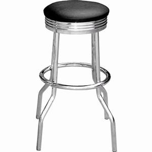 phoenix chrome retro kitchen bar stool padded seat chrome frame