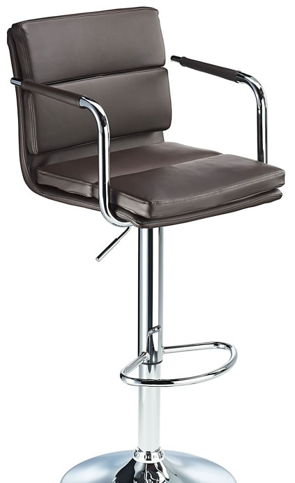 Primosy brown kitchen breakfast bar stool with arms and back