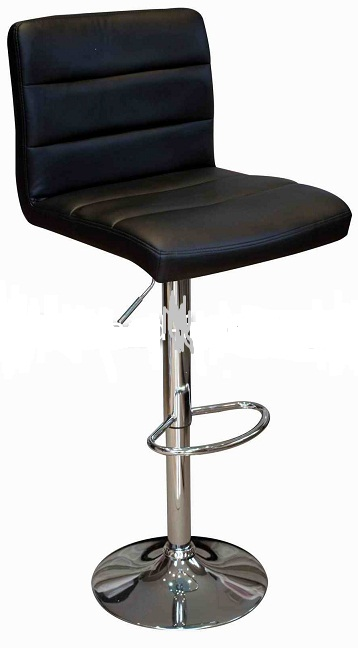 Ocean Kitchen Bar Stool - Black Padded Seat and Back
