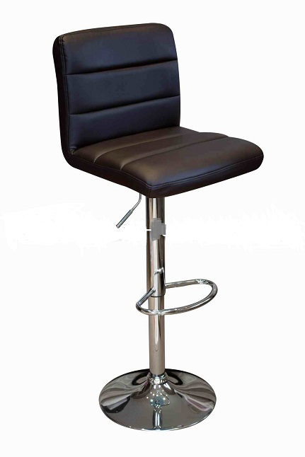 Ocean Brown Kitchen Bar Stool - Padded Seat Adjustable Height