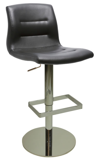 Sufusta Deluxe Kitchen Breakfast Bar Stool Black Seat Weighted Base
