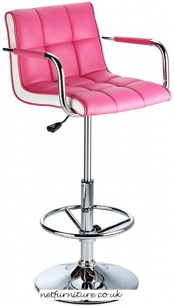 Molto Adjustable Height Bar Stool - with pink faux leather seat and contrasting white side panels  sc 1 st  buy online kitchen stools breakfast bar stools and bar stools & funky bar stools colours grey green orange purple red yellow ... islam-shia.org